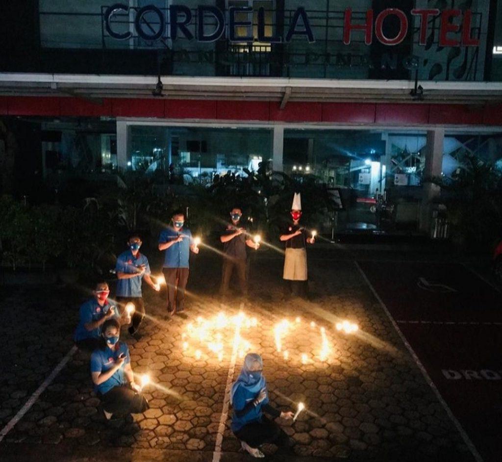 Earth Hour di Cordela Hotel Pangkalpinang