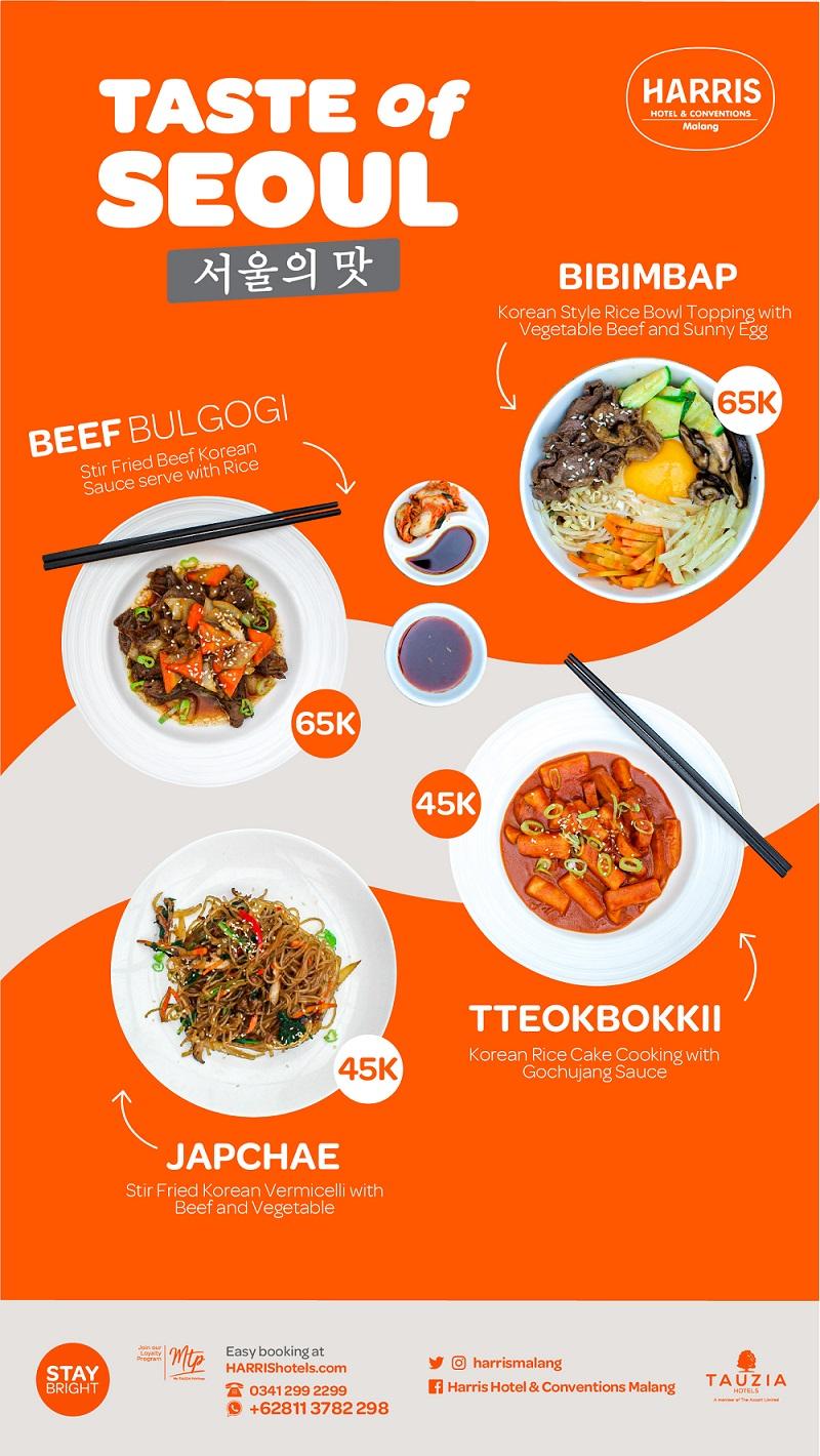 Menu Korean Food HARRIS Hotel