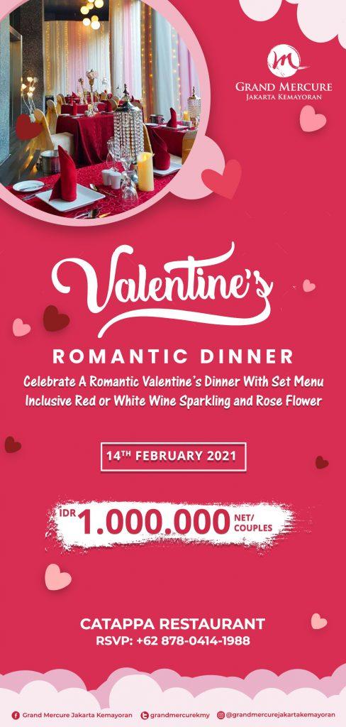 Valentine Romantic Dinner Hotel Grand Mercure Jakarta Kemayoran.