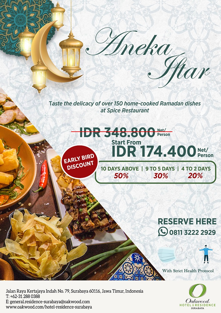 Ramadan Buffet Oakwood Hotel & Residence Surabaya