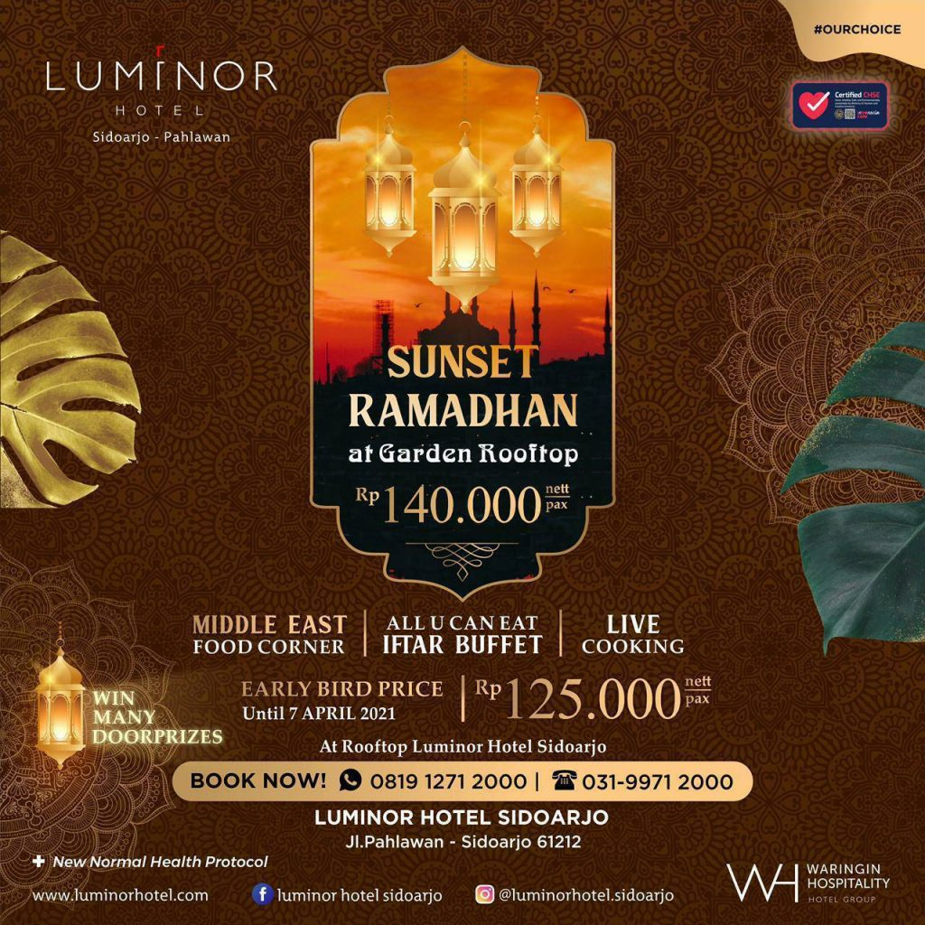 Sunset Ramadhan at Garden Rooftop