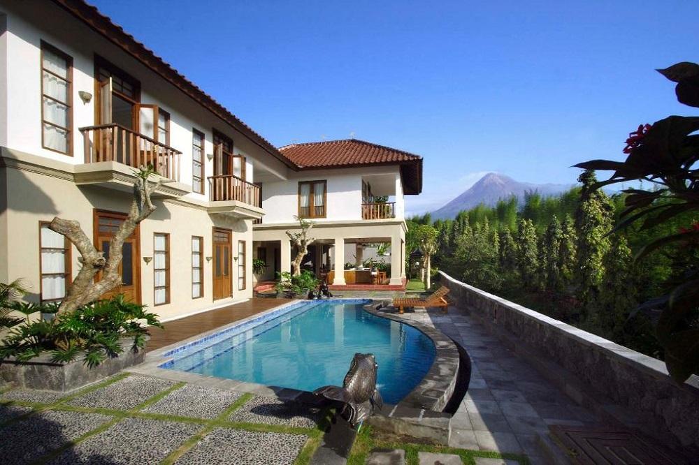 Penginapan dengan Pemandangan Gunung Merapi
