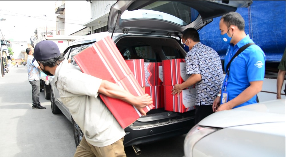 Distribusi Pemberian Sembako OHM ke Yayasan Al Madiniyah