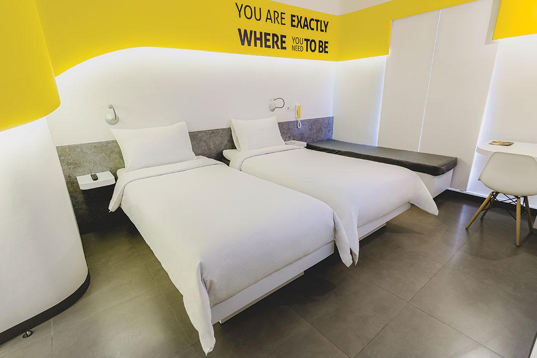 Yello Hotel Room