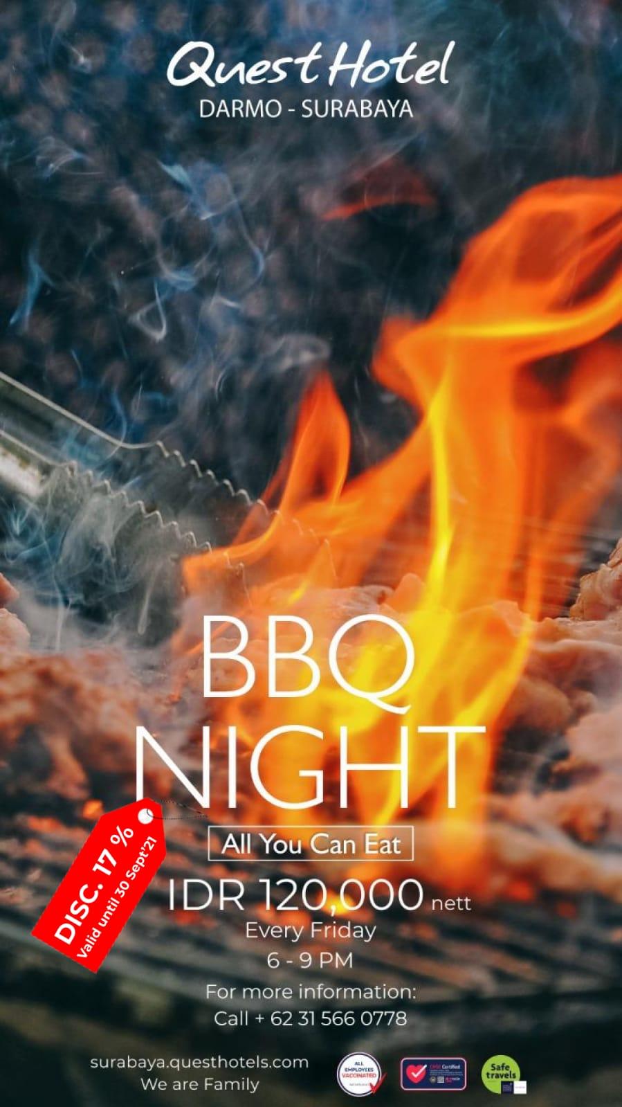 BBQ Night hanya di Quest Hotel Darmo Surabaya