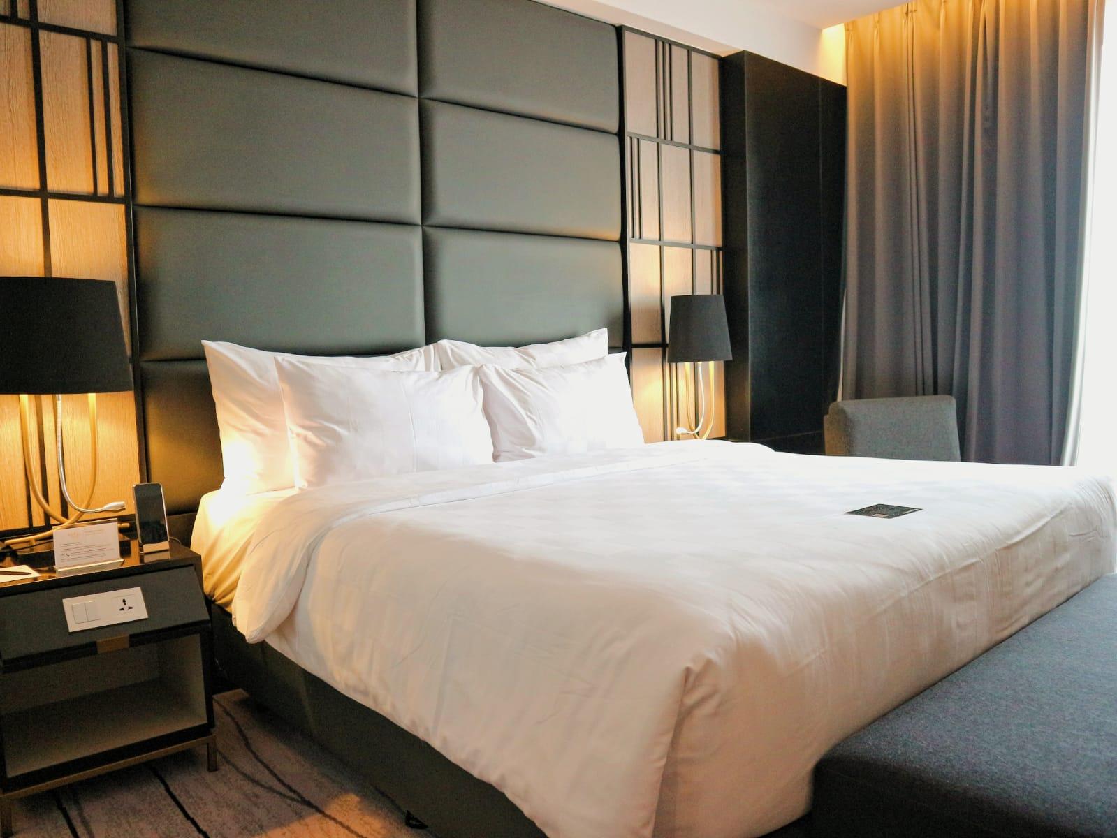 Salah satu kamar yang ada di Royal Tulip Surabaya